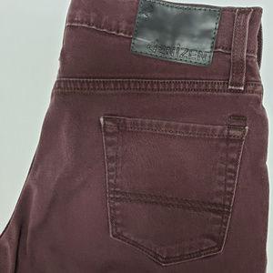 Levis Denizen Burgundy 216 Skinny Jeans 29 x 32